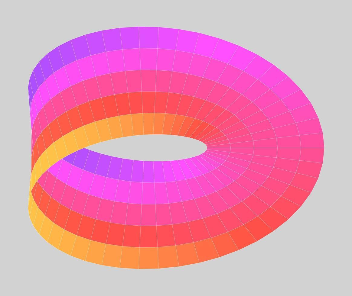 Mobius Band Gradient vektor