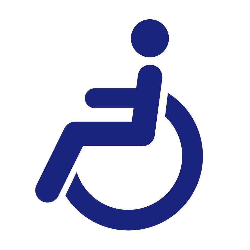 funktionshindrad person i rullstol vektor