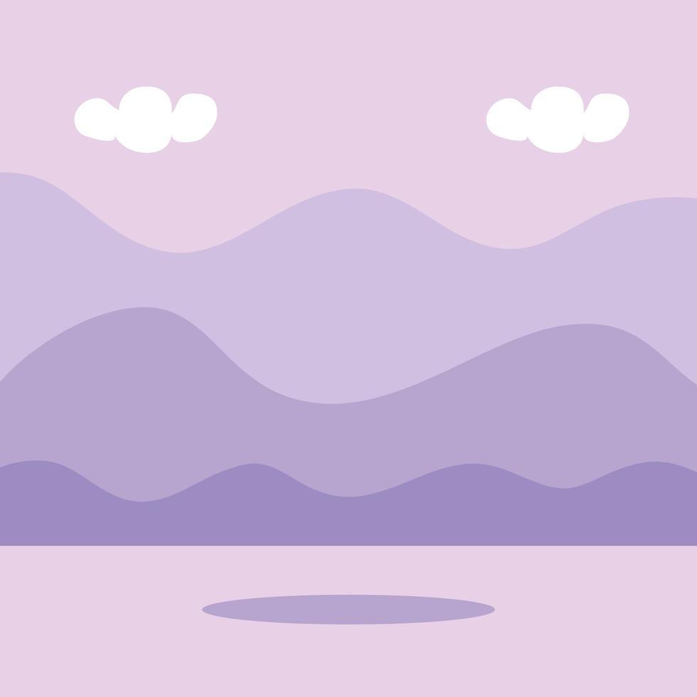 naturliga landskap scen isolerad ikon vektor