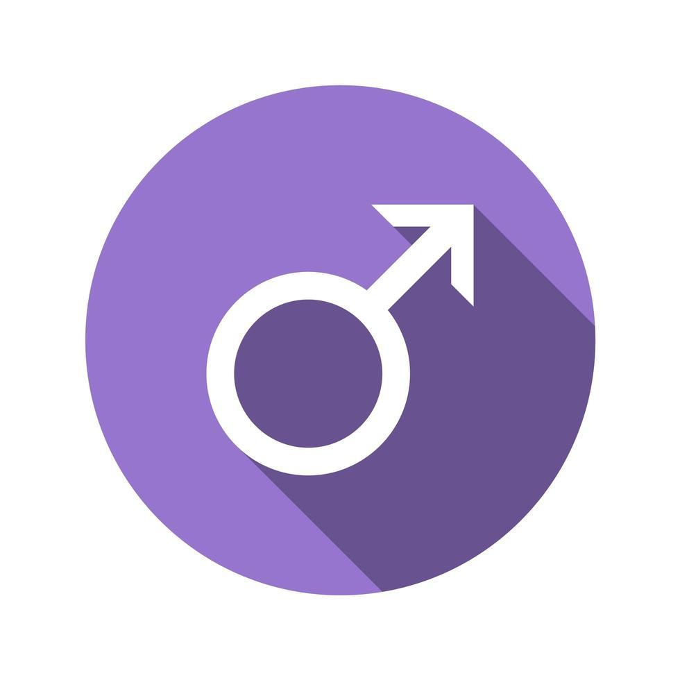 männliches Zeichen im flachen Entwurfsstil vektor