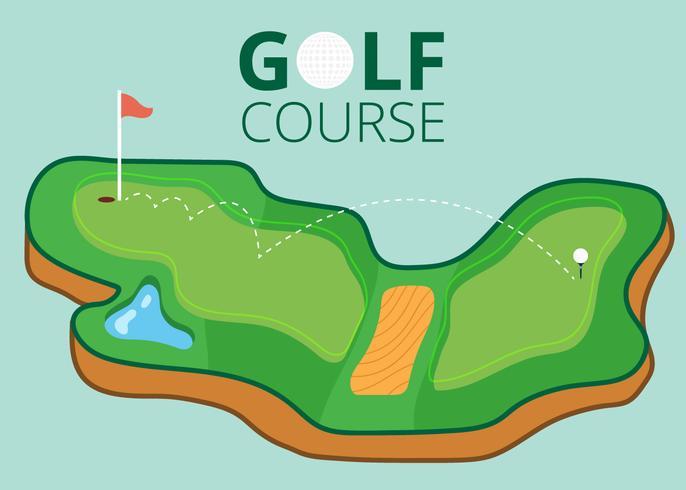 Golfbana karta vektor