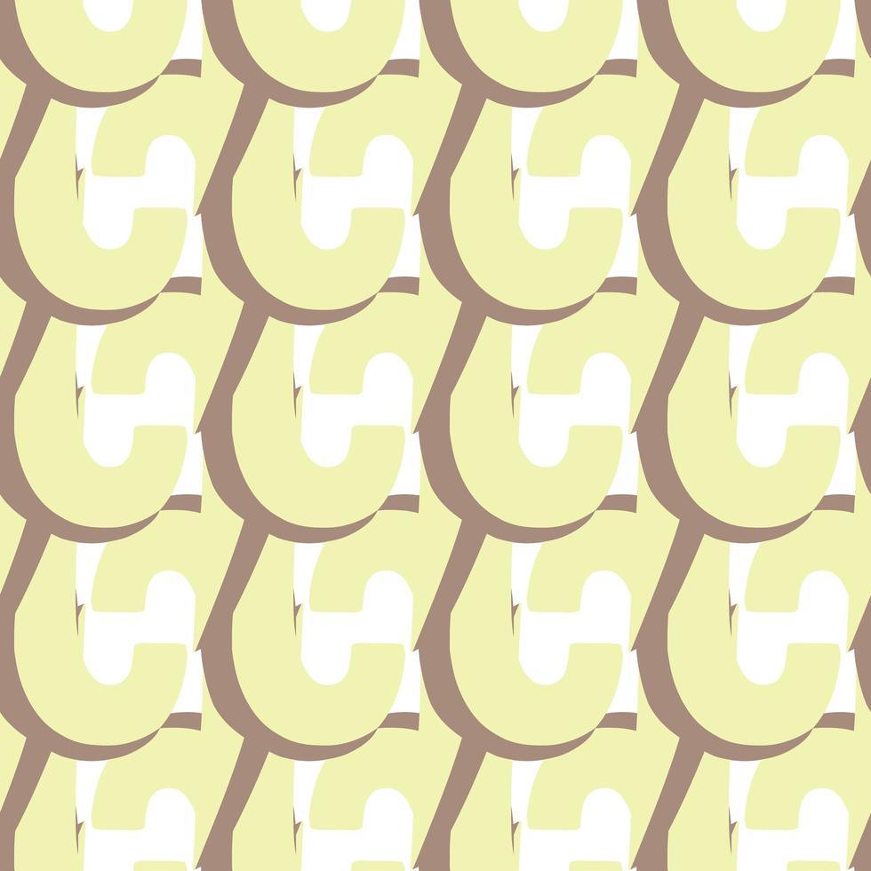 vektor sömlös textur bakgrundsmönster. handritade, gula, bruna, vita färger.