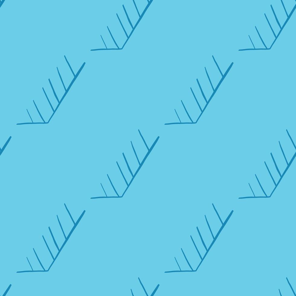 Vektor nahtloses Muster, Textur Hintergrund. handgezeichnet, blaue Farben.