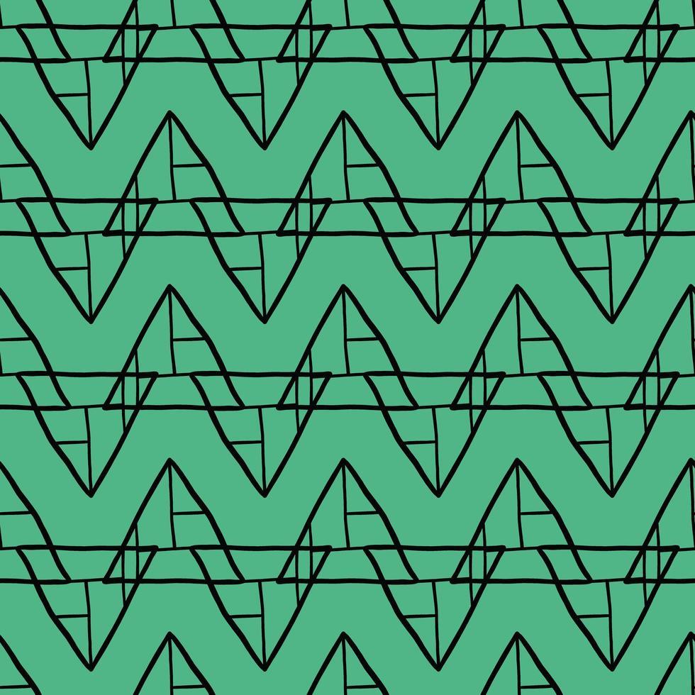 vektor sömlösa mönster, textur bakgrund. handritade, gröna, svarta färger.