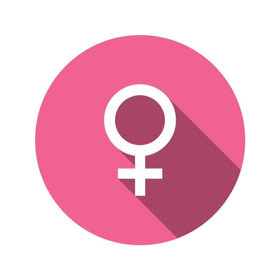 weibliches Zeichen im flachen Entwurfsstil vektor