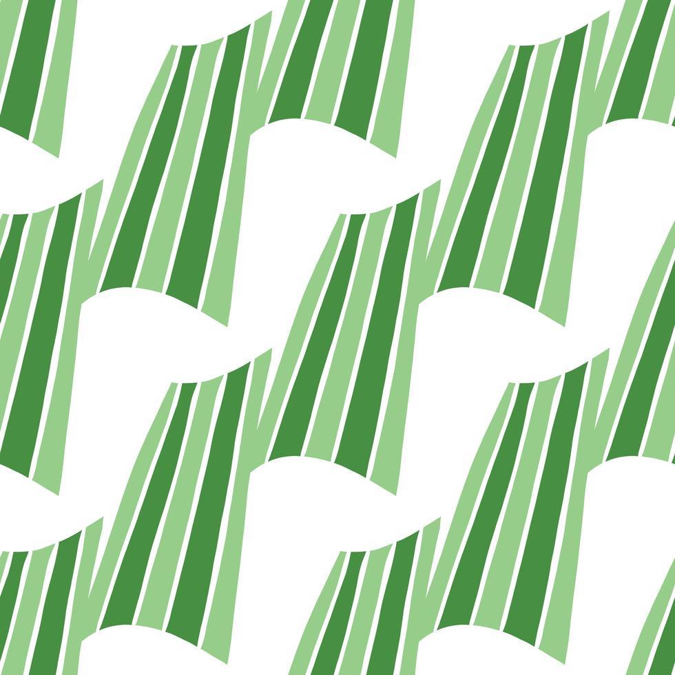 Vektor nahtloses Muster, Textur Hintergrund. handgezeichnete, grüne, weiße Farben.
