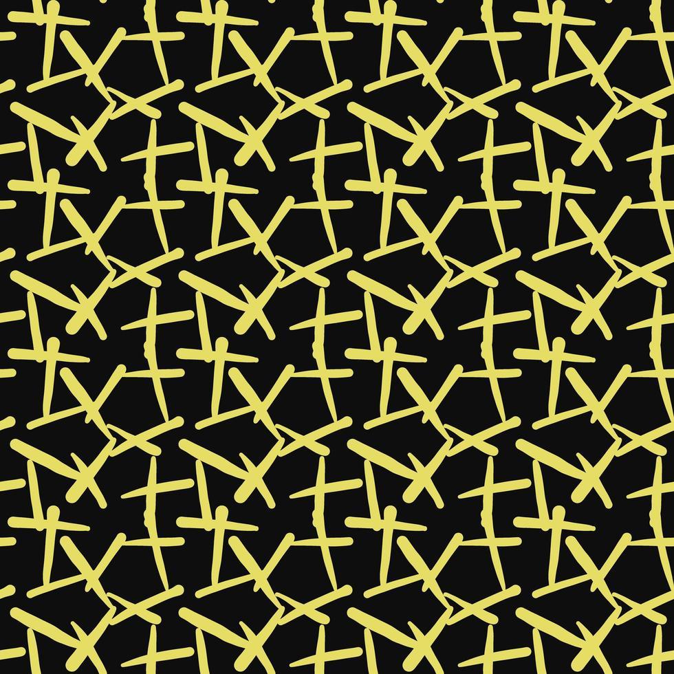 vektor sömlösa mönster, textur bakgrund. handritade, gula, svarta färger.
