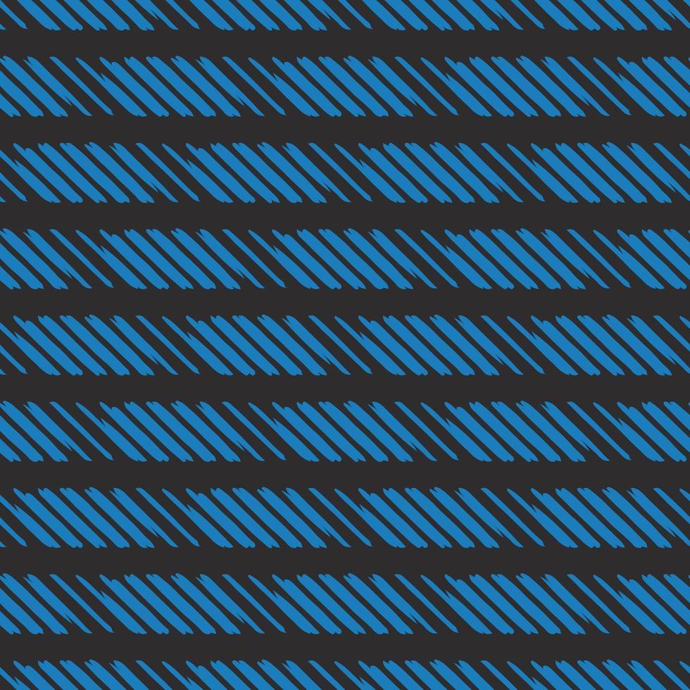Vektor nahtlose Textur Hintergrundmuster. handgezeichnete, schwarze, blaue Farben.