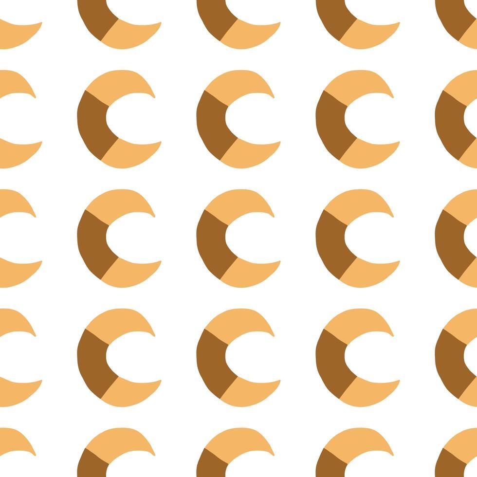 vektor sömlösa mönster, textur bakgrund. handritade, orange, bruna, vita färger.