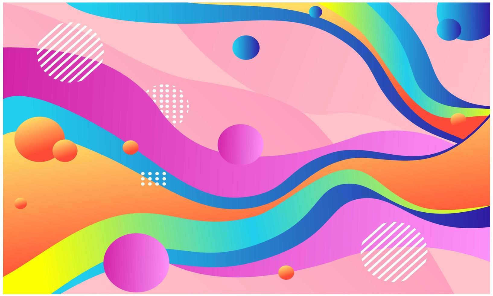 bunter Flusshintergrund. abstrakte bunte Formenhintergrund vektor