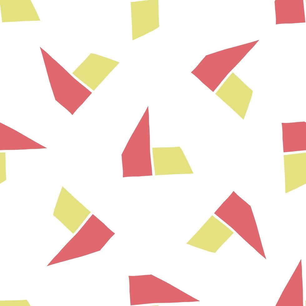 Vektor nahtloses Muster, Textur Hintergrund. handgezeichnete, rote, gelbe, weiße Farben.