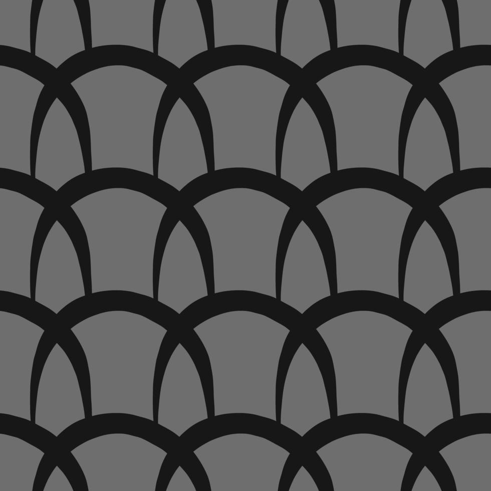 Vektor nahtloses Muster, Textur Hintergrund. handgezeichnete, graue, schwarze Farben.