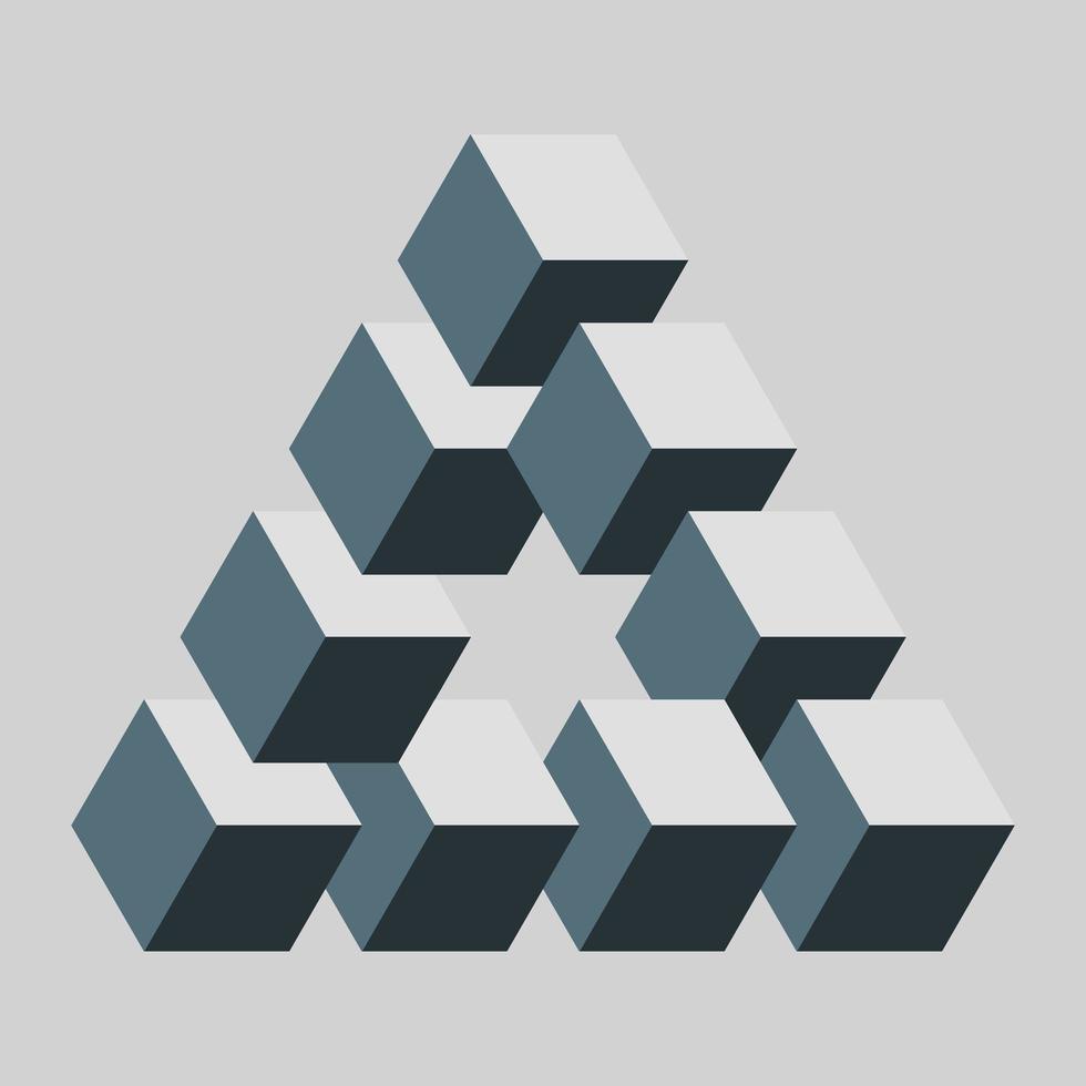 Penrose oder reutersvard Dreieck vektor
