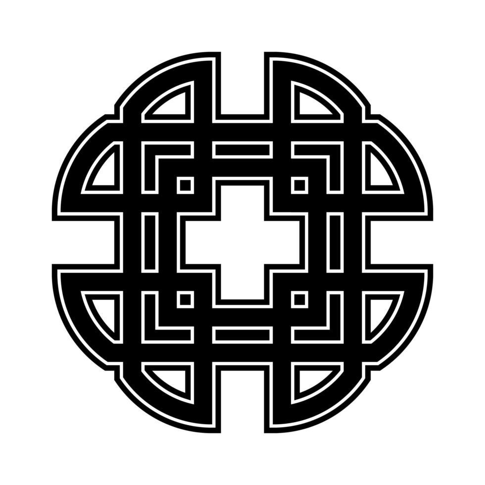keltisk korsprydnad vektor