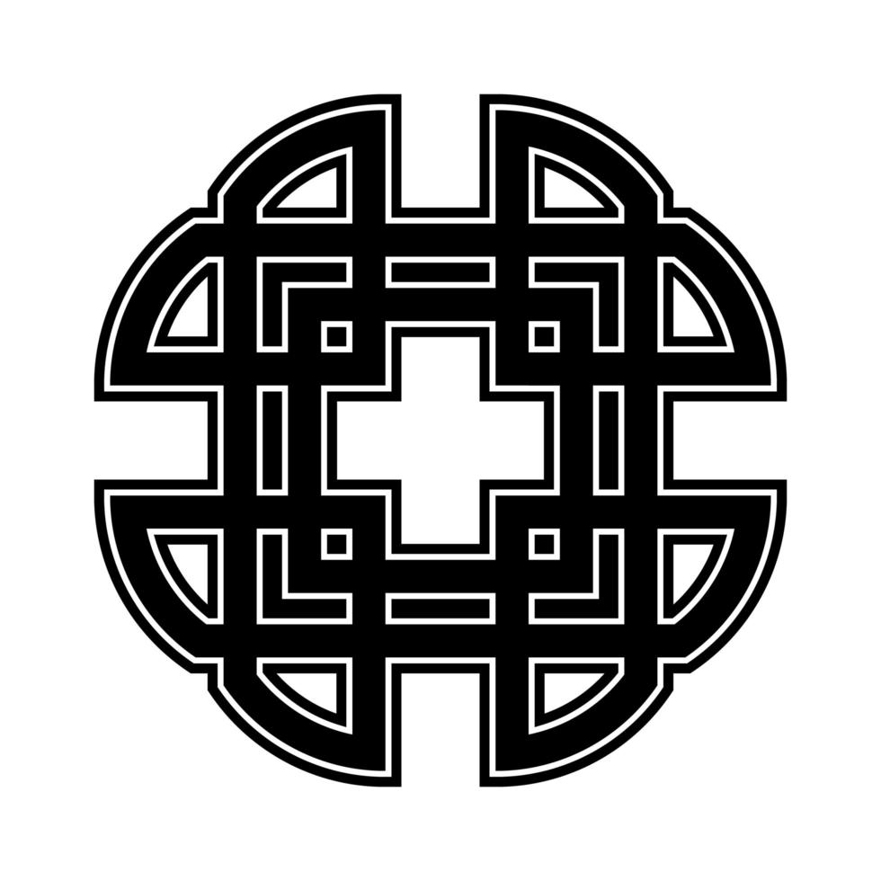 keltische Kreuzverzierung vektor