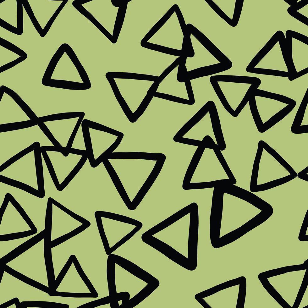 Vektor nahtlose Textur Hintergrundmuster. handgezeichnete, grüne, schwarze Farben.