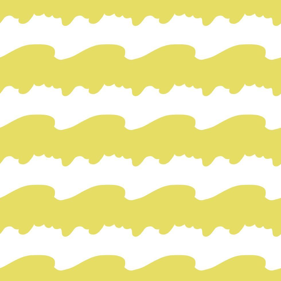 Vektor nahtloses Muster, Textur Hintergrund. handgezeichnete, gelbe, weiße Farben.