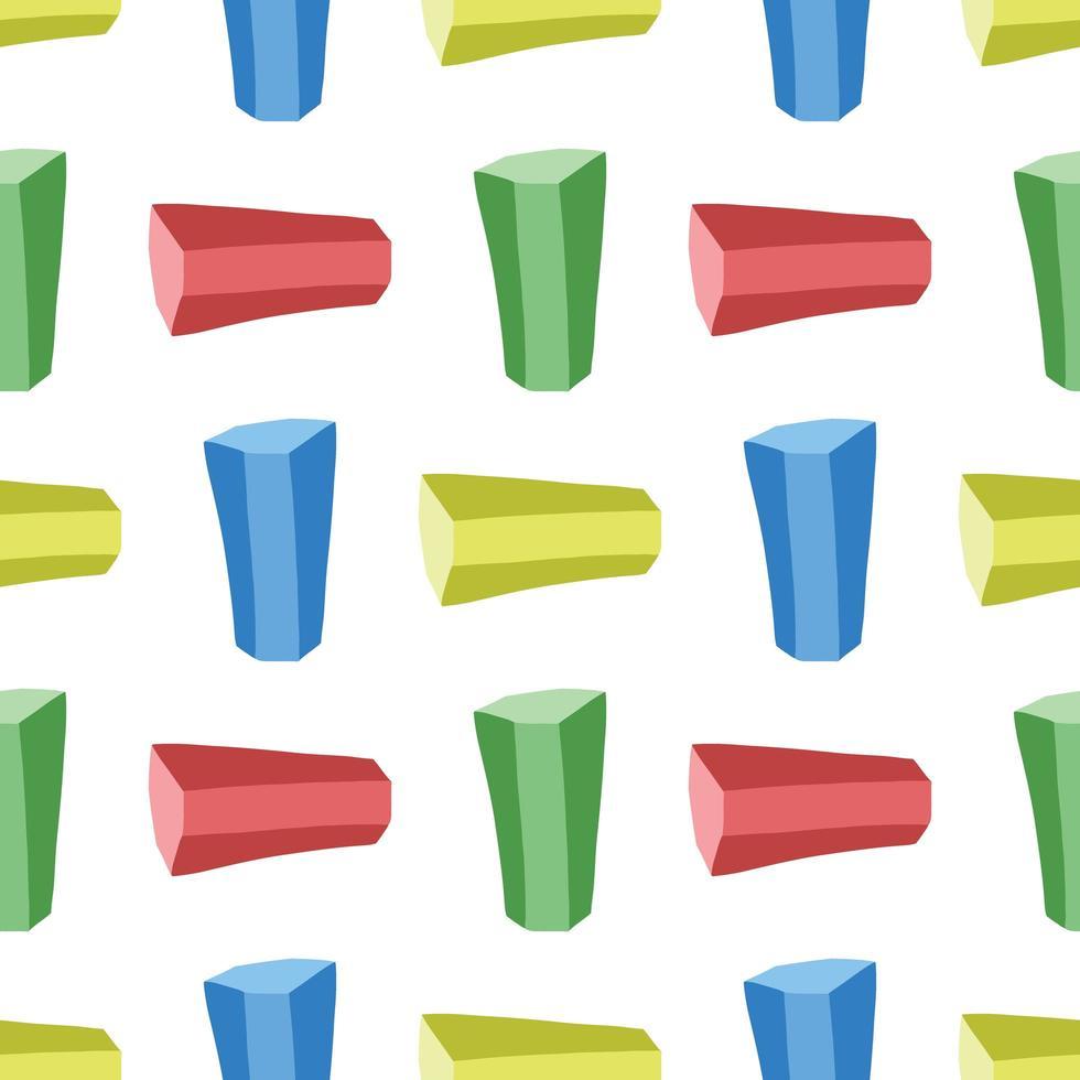 vektor sömlös textur bakgrundsmönster. handritad, blå, grön, gul, röd färger på vitt.
