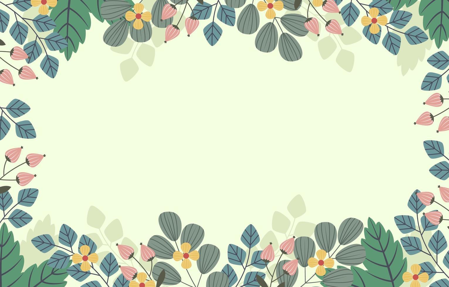 schöne Blumenrahmen vektor