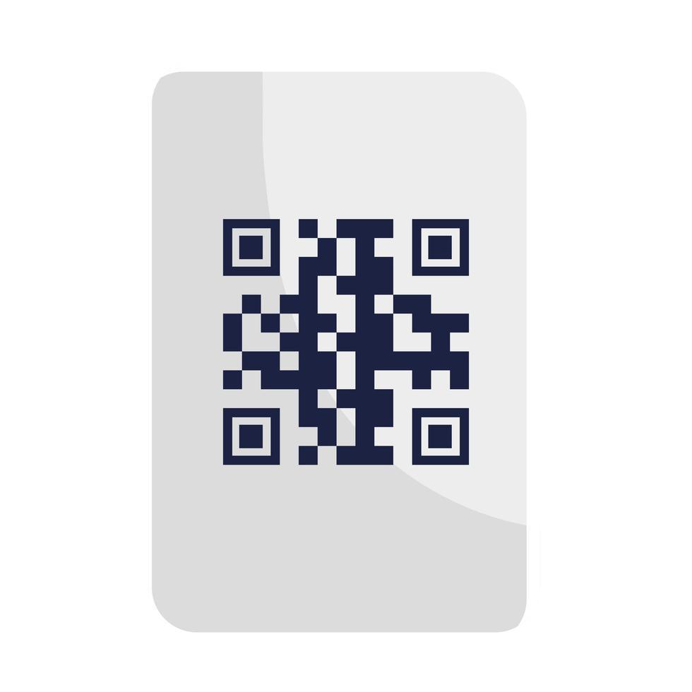 qr Code über Papiervektorentwurf vektor
