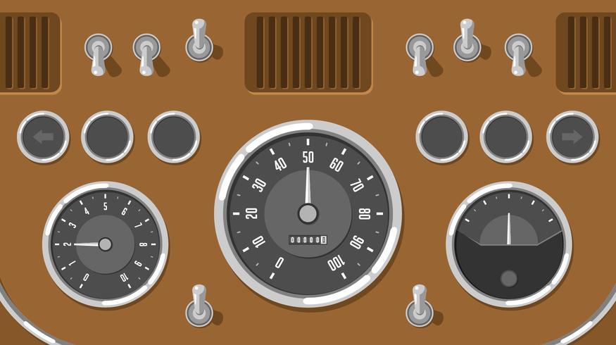 Classic Bil Dashboard UI Gratis Vector