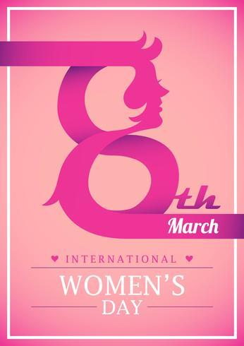 Glücklicher internationaler Frauentag vektor