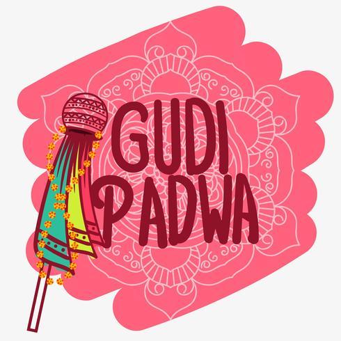 Gudi Padwa Bakgrund vektor
