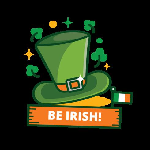 St Patrick's Day Green Hat Sticker vektor