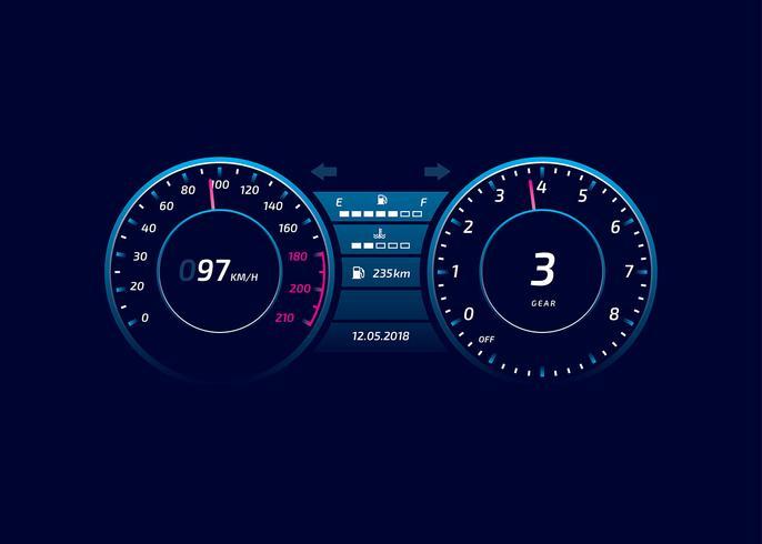 Bil Dashboard UI Modern Vector