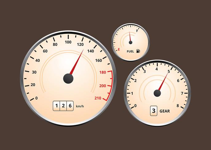Auto Dashboard klassische UI Vektor