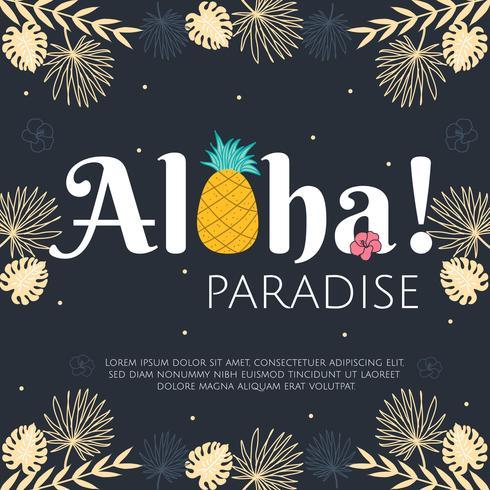 aloha paradisvektor vektor