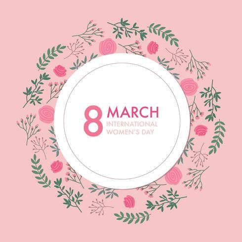 Rosa inbjudan för internationell kvinnodag vektor