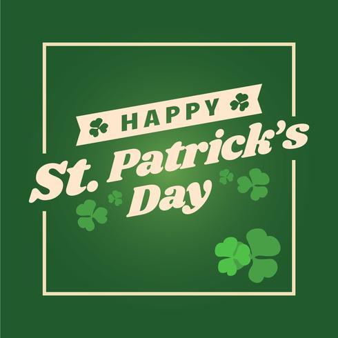 Glad St Patrick Dag Bakgrund vektor