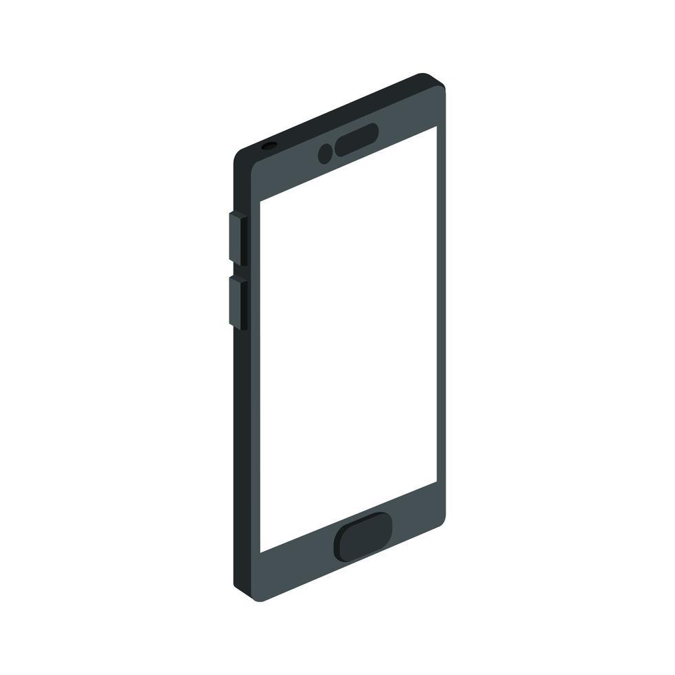 smartphone enhet teknik isolerad ikon vektor