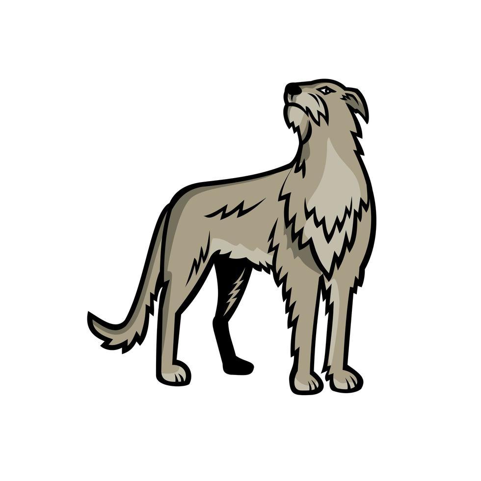 skotsk hjorthund stående maskot vektor