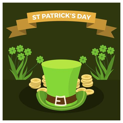 Flat St Patrick's Day Vector Illustration