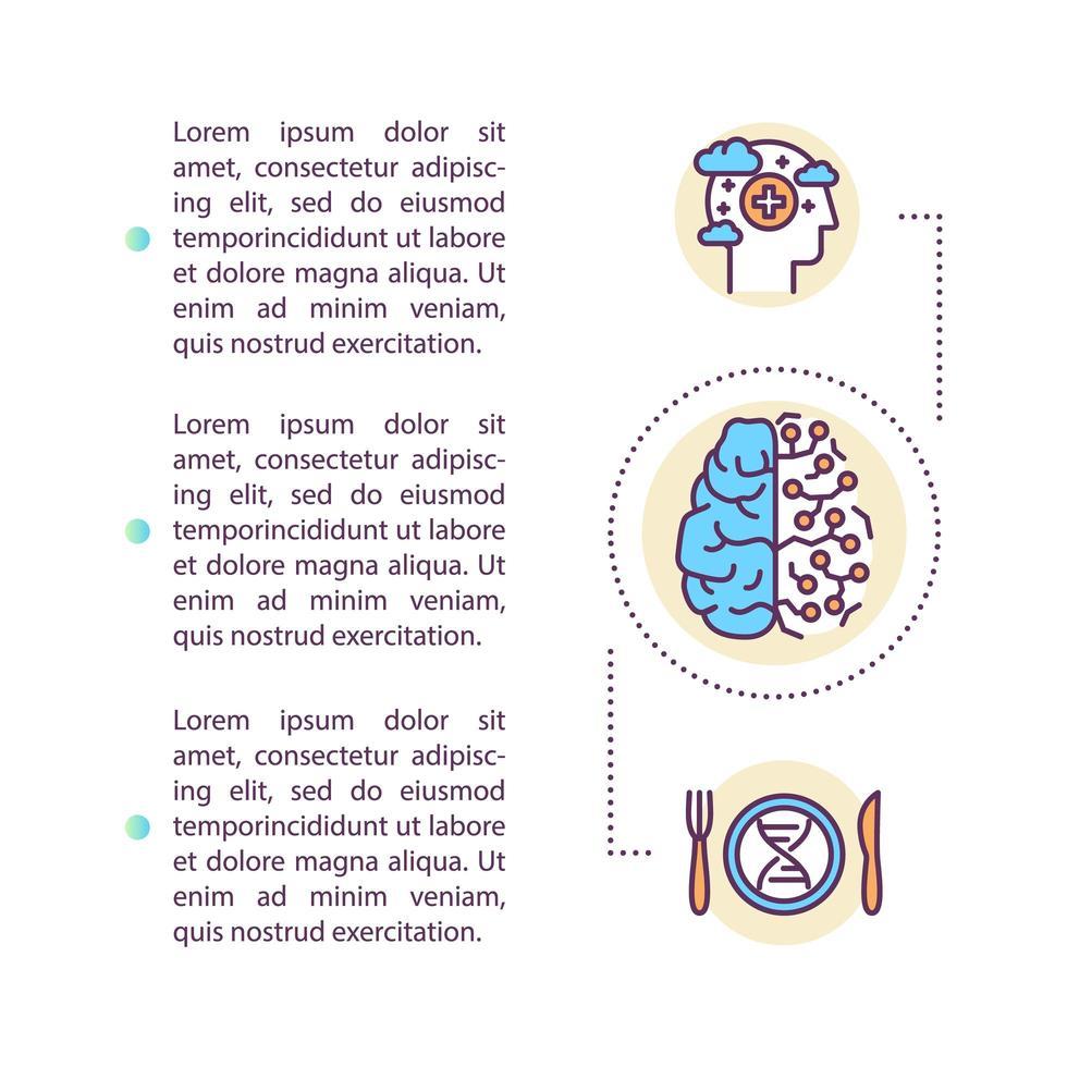 Mind-Hacking-Konzept-Symbol mit Text vektor