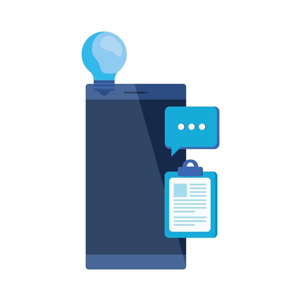 Checkliste Zwischenablage mit Smartphone vektor