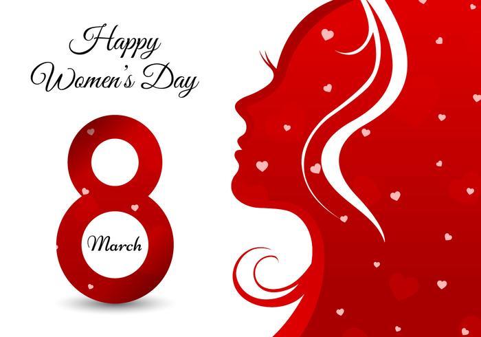 Gruß-Karte der glücklichen Frauen Tages vektor