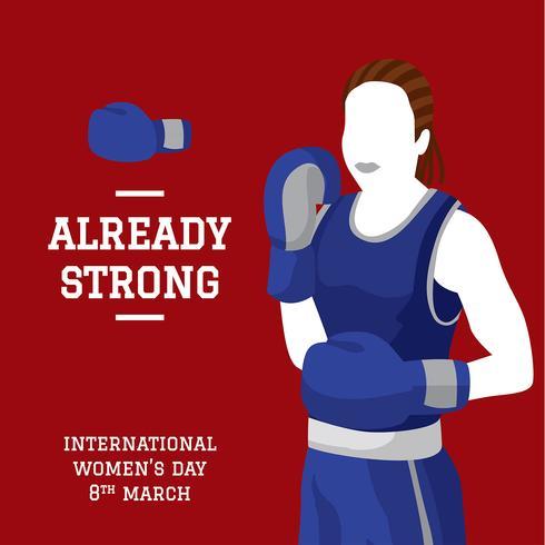 internationell kvinnodag boxning vektor