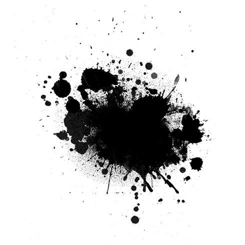 Grunge bläck splat bakgrund vektor