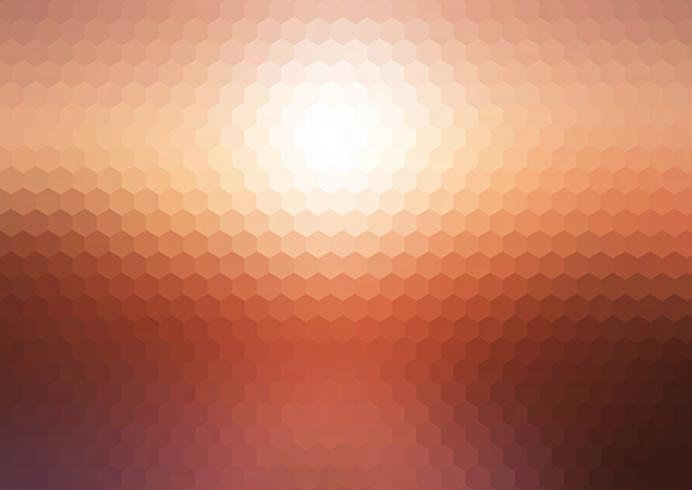 Abstrakt solnedgång hexagonal mosaik bakgrund vektor