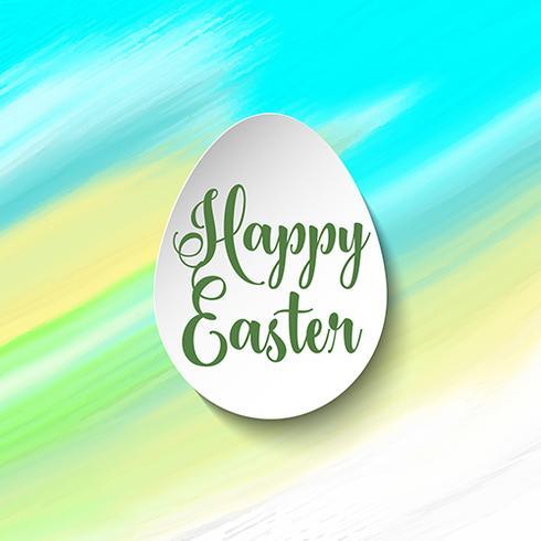 Påsk bakgrund med ägg på akvarell konsistens vektor