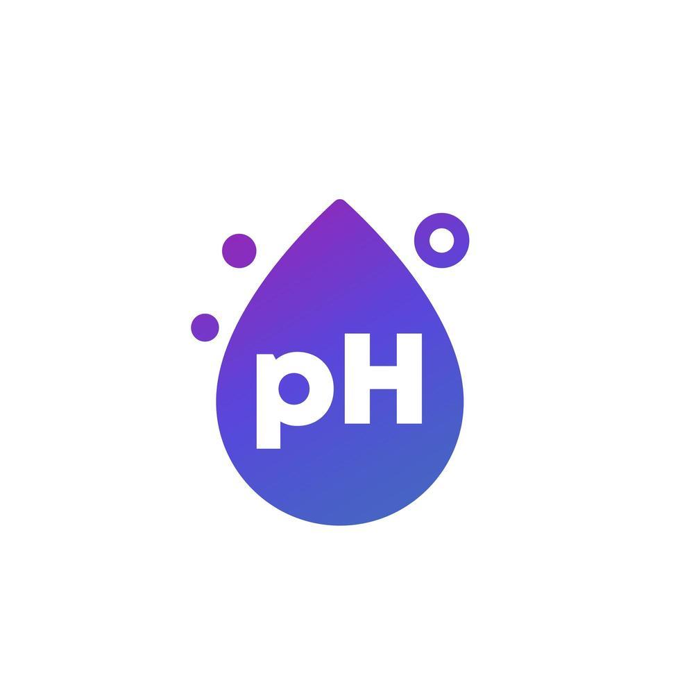 PH-Symbol mit einem Tropfen, Vektor