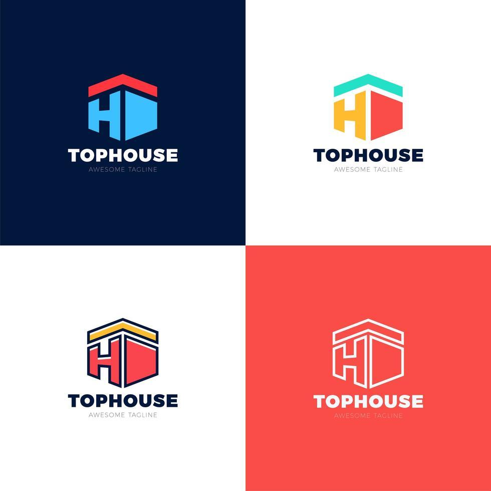 abstrakte Pfeile Immobilienhaus Vektor Logo Symbol Design Vorlage Elemente