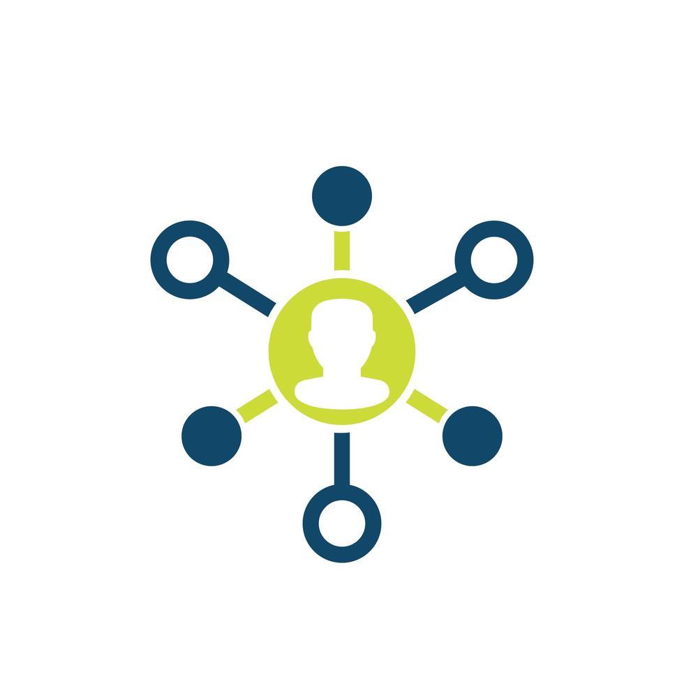 affiliate marknadsföring vektor ikon på vitt