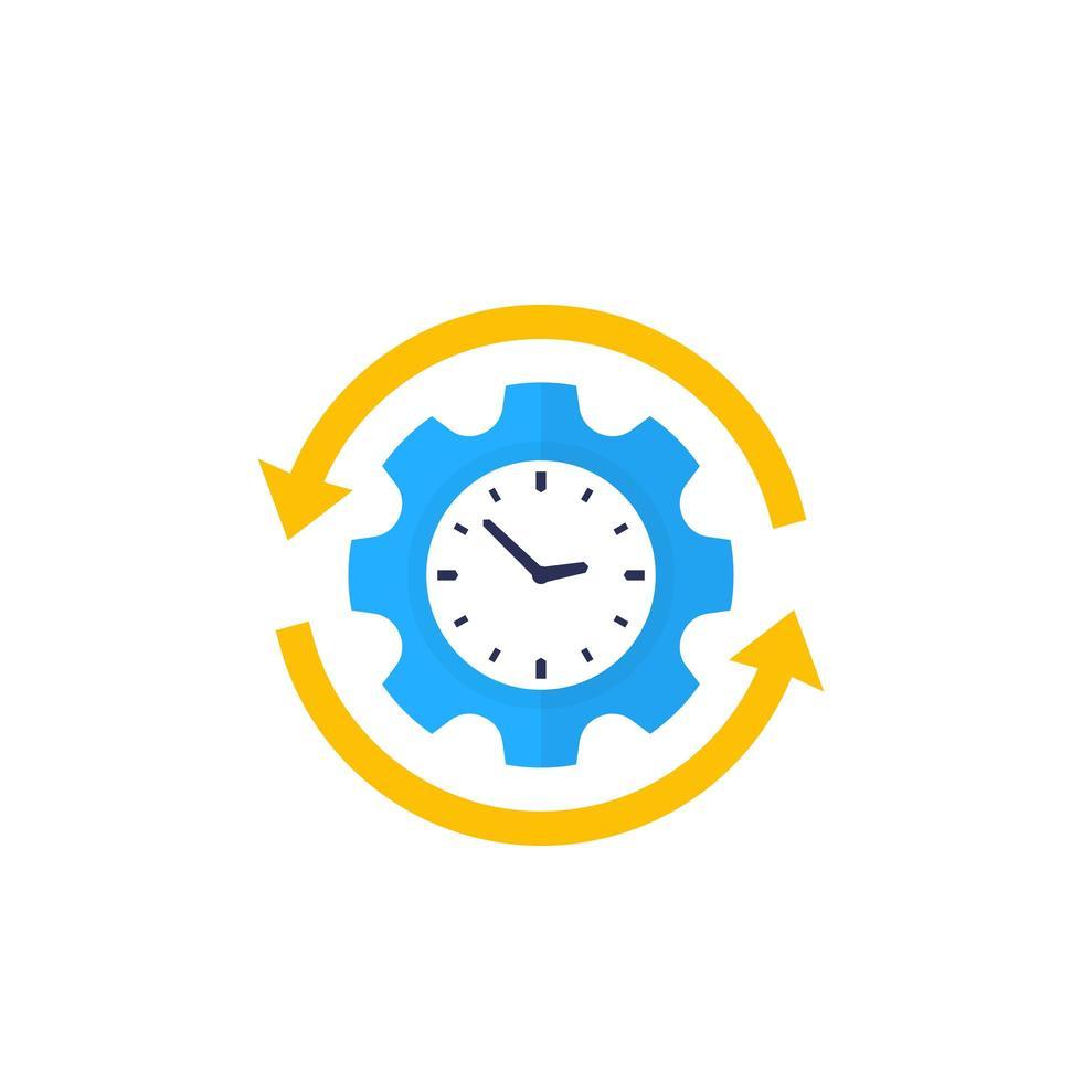Produktivität, Produktionseffizienz Vektor-Symbol vektor