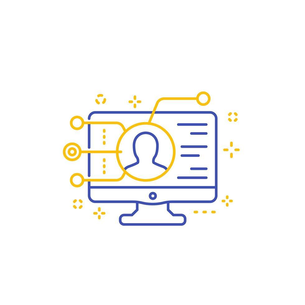 affiliate marknadsföringsikon, linje vektor