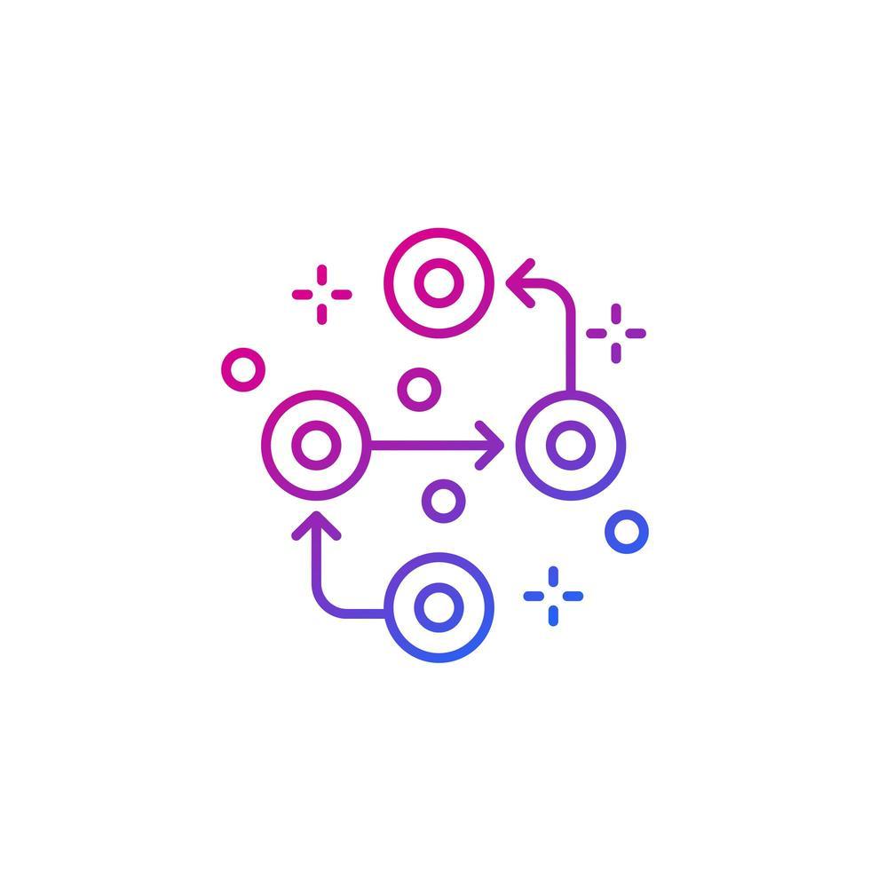 metodik vektor linje ikon på vitt