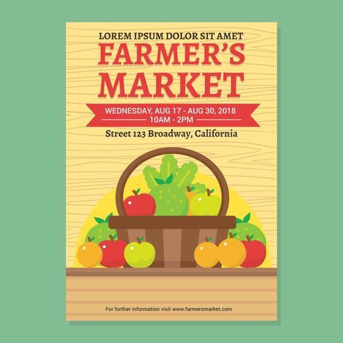 Böndernas marknadsmallar vektor mall